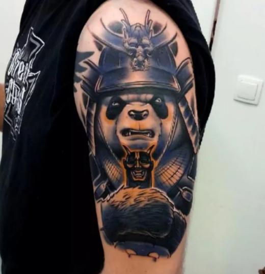 angry-panda-bear-tattoo