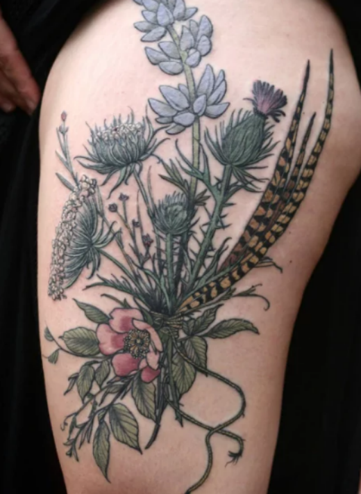 flower-side-tattoo