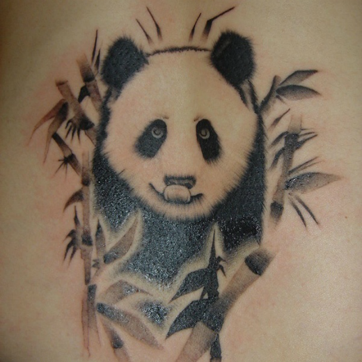 realistic-panda-bear-tattoo